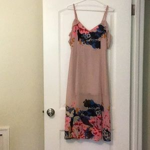Blush dress from Express